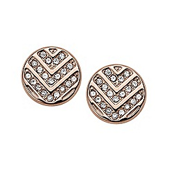Fossil - Rose gold 'Vintage Glitz' stud earrings
