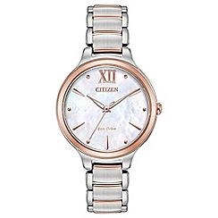 Citizen - Ladies multi-coloured 'Eco-Drive' bracelet watch EM0556-87D