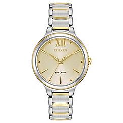 Citizen - Ladies multi-coloured 'Eco-Drive' bracelet watch EM0554-82X