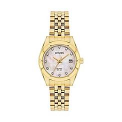 Citizen - Ladies gold bracelet watch EU6052-53D