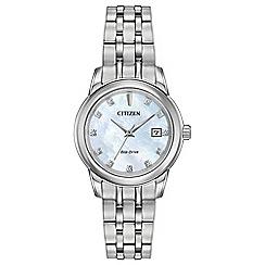 Citizen - Ladies sliver 'Eco-Drive' bracelet watch EW2390-50D