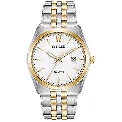 Citizen - Men's multi-coloured 'Eco-Drive' bracelet watch BM7334-58A
