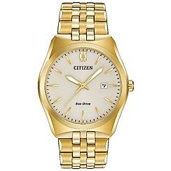 Citizen - Men's gold 'Eco-Drive' bracelet watch BM7332-53P