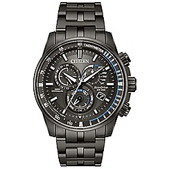 Citizen - Men's black 'Eco-Drive' chronograph watch AT4127-52H