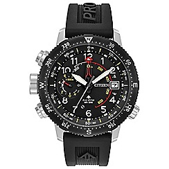 Citizen - Men's black 'Eco-Drive - Promaster Altichron' watch BN4044-15E
