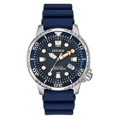 Citizen - Men's blue 'Eco-Drive' divers watch BN0151-09L