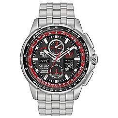 Citizen - Men's silver 'Eco-Drive - Red Arrows Skyhawk' watch JY8059-57E