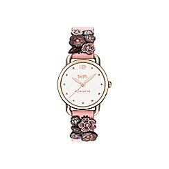 Coach - Ladies pink 'Delancey' watch