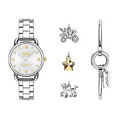 Coach - Ladies silver 'delancey' watch