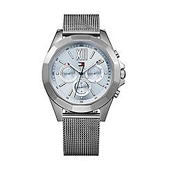 Tommy Hilfiger - Ladies stainless steel grey IP mesh bracelet watch 1781846