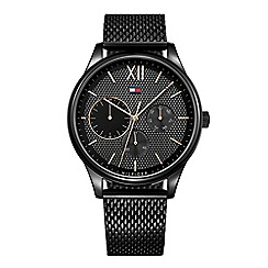 Tommy Hilfiger - Gents stainless steel black IP mesh bracelet watch 1791420