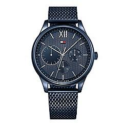 Tommy Hilfiger - Gents stainless steel blue IP mesh bracelet watch 1791421