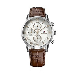 Tommy Hilfiger - Gents brown leather strap watch 1791400
