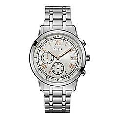 Guess - Men's silver chronograph watch W1001G1