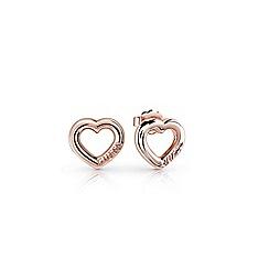 Guess - Rose gold 'Grace' stud earrings
