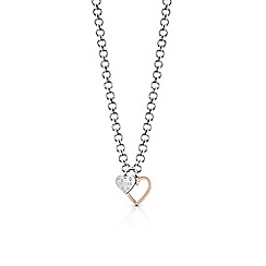 Guess - Multi-coloured 'Heart In Heart' necklace
