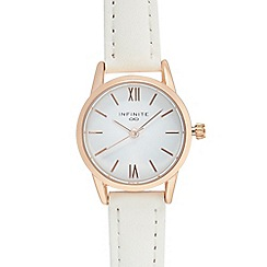 Infinite - Ladies' white analogue watch