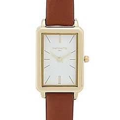 Infinite - Ladies' brown rectangle analogue watch