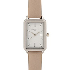 Infinite - Ladies grey rectangle analogue watch
