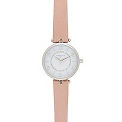 Infinite - Pink T-bar analogue watch