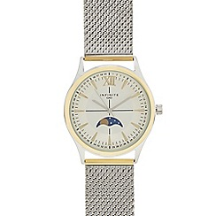Infinite - Men's silver stainless steel mesh strap analogue watch