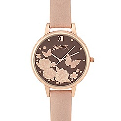Mantaray - Ladies pink floral face watch