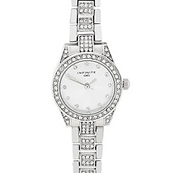 Infinite - Ladies silver diamante bracelet watch