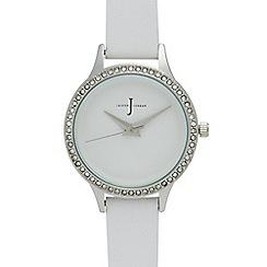 J by Jasper Conran - Ladies' white analogue watch