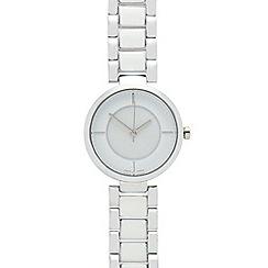 J by Jasper Conran - Ladies' silver analogue watch