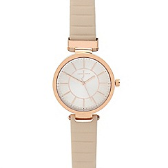 J by Jasper Conran - Ladies' light pink analogue watch