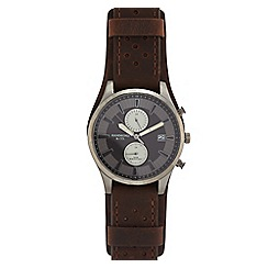 Hammond & Co. by Patrick Grant - Men's brown leather strap watch 610102089