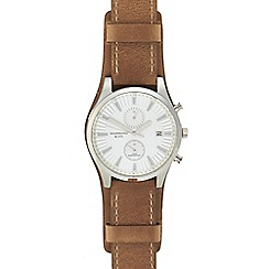 Hammond & Co. by Patrick Grant - Men's brown leather strap watch 610102090