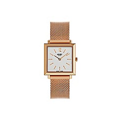 Henry London - Ladies rose gold 'Heritage Square' watch HL26-QM-0264