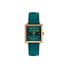 Henry London - Ladies teal 'Heritage Square' watch HL26-QS-0258