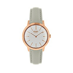 Henry London - Ladies grey 'Iconic' watch HL34-S-0220