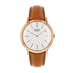 Henry London - Tan iconic strap watch