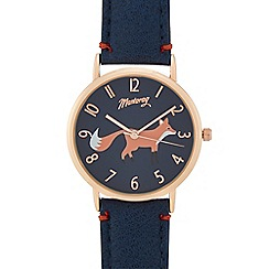 Mantaray - Ladies' blue fox print analogue watch