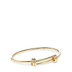 Pilgrim - Gold-plated bangle bracelet