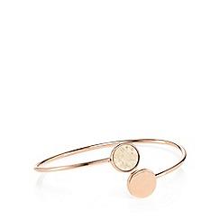 Pilgrim - Rose gold-plated 'Mina' open bangle bracelet
