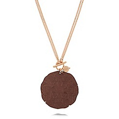Pilgrim - Rose gold-plated 'Angelina' disc necklace