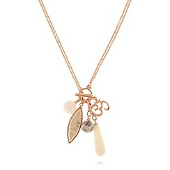 Pilgrim - Rose gold-plated 'Halley' stone necklace