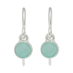 Pilgrim - Silver-plated amazonite stone 'Valeria' drop earrings