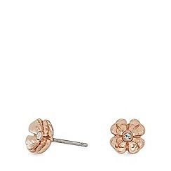 Pilgrim - Rose gold-plated flower 'Isabel' stud earrings
