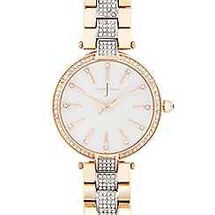 J by Jasper Conran - Designer ladies rose gold crystal watch