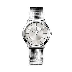 Calvin Klein - Unisex silver 'Minimal' analogue bracelet watch K3M22126