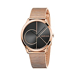 Calvin Klein - Men's rose gold 'Minimal' analogue bracelet watch K3M21621