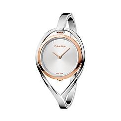 1f05c64ef87d34 Calvin Klein - Ladies silver 'Light' analogue bangle watch K6L2MB16