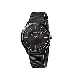 Calvin Klein - Men's black 'Minimal' analogue bracelet watch K3M21421