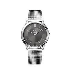 Calvin Klein - Men's silver 'Minimal' analogue bracelet watch K3M21124