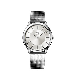 Calvin Klein - Men's silver 'Minimal' analogue bracelet watch K3M21126